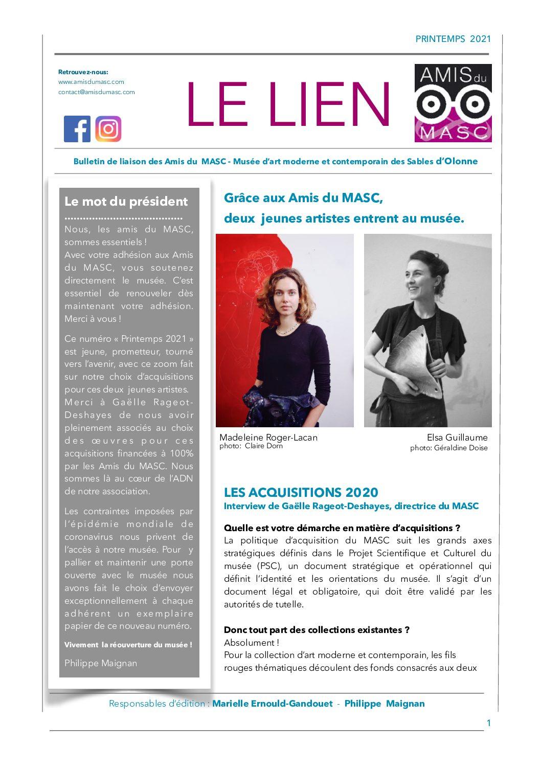 LE LIEN : Edition  Printemps  2021